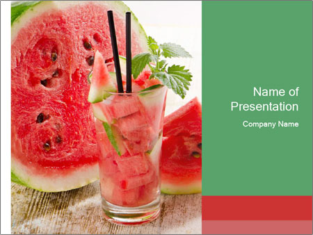 Fresh from watermelon. PowerPoint Templates