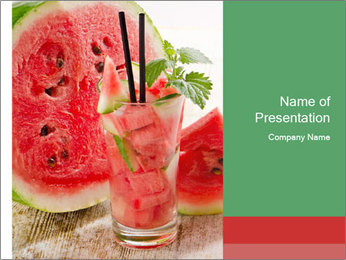 Fresh from watermelon. PowerPoint Templates - Slide 1