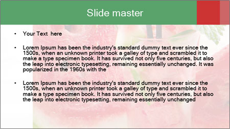 Fresh from watermelon. PowerPoint Template - Slide 2