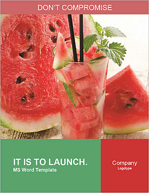 Fresh from watermelon. Word Template - Page 1