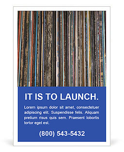 The magic of vinyl records. Ad Template