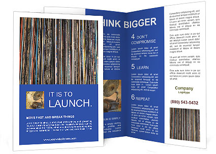 The magic of vinyl records. Brochure Template
