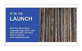 The magic of vinyl records. Business Card Template