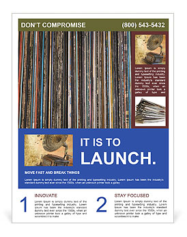 The magic of vinyl records. Flyer Templates