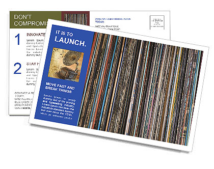 The magic of vinyl records. Postcard Template
