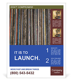 The magic of vinyl records. Poster Templates