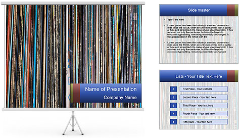 The magic of vinyl records. PowerPoint Template