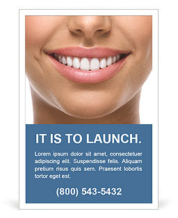 The snow-white smile healthy teeth. Ad Templates