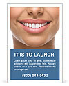 The snow-white smile healthy teeth. Ad Template