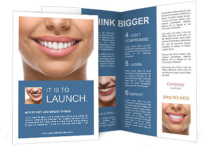 The snow-white smile healthy teeth. Brochure Template