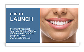 The snow-white smile healthy teeth. Business Card Template