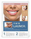 The snow-white smile healthy teeth. Flyer Template