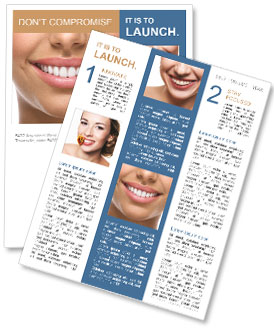 The snow-white smile healthy teeth. Newsletter Template