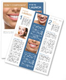 The snow-white smile healthy teeth. Newsletter Templates