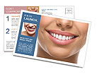 The snow-white smile healthy teeth. Postcard Templates