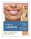 The snow-white smile healthy teeth. Poster Template