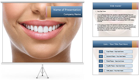 The snow-white smile healthy teeth. PowerPoint Template