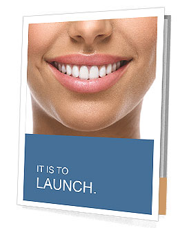 The snow-white smile healthy teeth. Presentation Folder