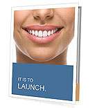 The snow-white smile healthy teeth. Presentation Folder