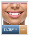 The snow-white smile healthy teeth. Word Template