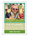 Three baby in sunglasses posing on the grass. Ad Template
