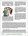 Three girls walk down the street on a sunny day. Word Template - Page 4