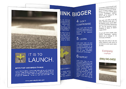 Road double arrow direction. Brochure Template