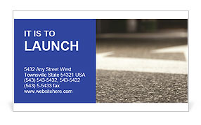 Road double arrow direction. Business Card Template
