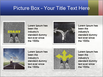 Road double arrow direction. PowerPoint Templates - Slide 14