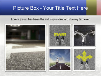 Road double arrow direction. PowerPoint Templates - Slide 19