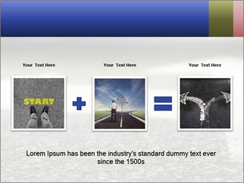 Road double arrow direction. PowerPoint Templates - Slide 22