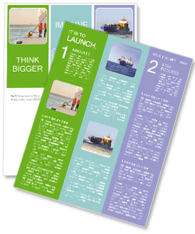 The sailors ship moored at the quay. Newsletter Template