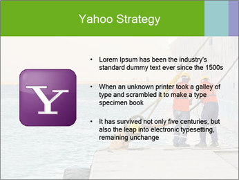 The sailors ship moored at the quay. PowerPoint Template - Slide 11