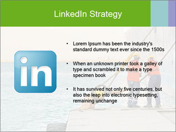 The sailors ship moored at the quay. PowerPoint Template - Slide 12