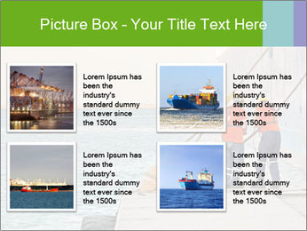 The sailors ship moored at the quay. PowerPoint Template - Slide 14