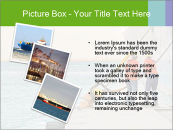 The sailors ship moored at the quay. PowerPoint Template - Slide 17