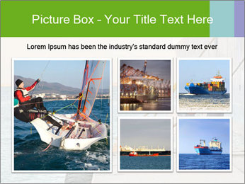 The sailors ship moored at the quay. PowerPoint Template - Slide 19