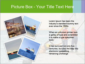The sailors ship moored at the quay. PowerPoint Template - Slide 23
