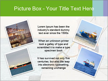 The sailors ship moored at the quay. PowerPoint Template - Slide 24