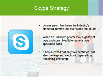 The sailors ship moored at the quay. PowerPoint Template - Slide 8