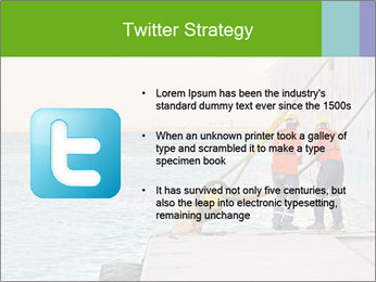 The sailors ship moored at the quay. PowerPoint Template - Slide 9
