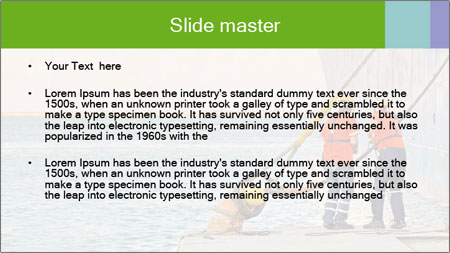 The sailors ship moored at the quay. PowerPoint Template - Slide 2
