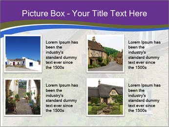 Large house on a background sky. PowerPoint Template - Slide 14