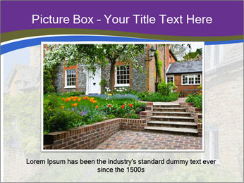 Large house on a background sky. PowerPoint Template - Slide 15