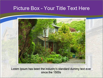 Large house on a background sky. PowerPoint Template - Slide 16