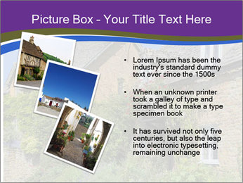 Large house on a background sky. PowerPoint Template - Slide 17