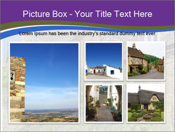 Large house on a background sky. PowerPoint Template - Slide 19