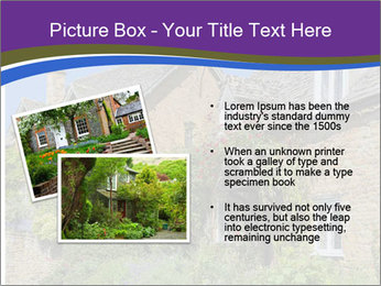 Large house on a background sky. PowerPoint Template - Slide 20