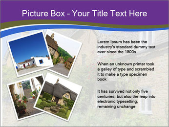 Large house on a background sky. PowerPoint Template - Slide 23