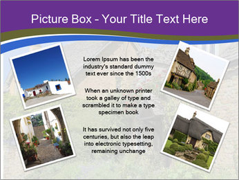 Large house on a background sky. PowerPoint Template - Slide 24